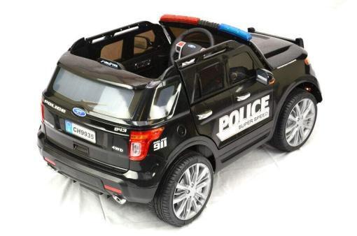 Elektro Kinderfahrzeug Kinderauto Polizei für Kinder ab 2 Jahre 12V mit Sirene lichter Megaphone Groß-7
