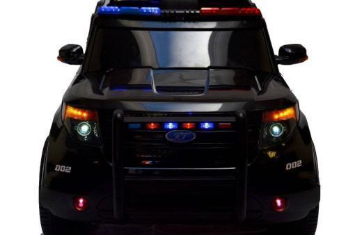 Elektro Kinderfahrzeug Kinderauto Polizei für Kinder ab 2 Jahre 12V mit Sirene lichter Megaphone Groß-8