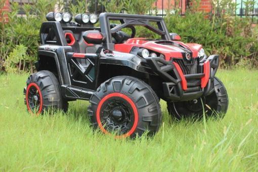 Elektro Kinderfahrzeug Kinderauto Buggy KinderQuad für Kinder ab 3 Jahre 12V Rot Groß-1