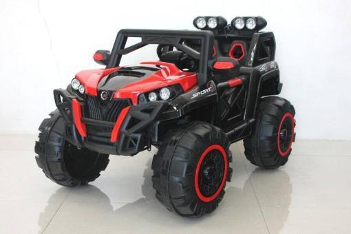 Elektro Kinderfahrzeug Kinderauto Buggy KinderQuad für Kinder ab 3 Jahre 12V Rot Groß-2
