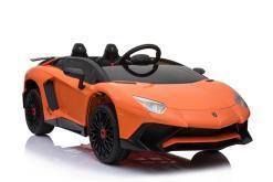 elektro Kinderfahrzeug von Lamborghini lizenziert - Aventador sv svj- mit Fernsteuerung, 12V, EVA und Ledersitz - orange- 1