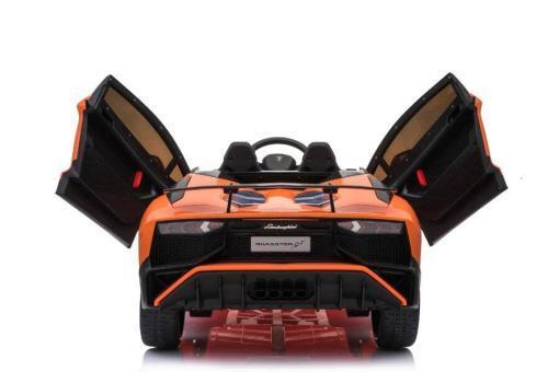 Kinderfahrzeug elektro von Lamborghini lizenziert - Aventador sv svj- mit Fernsteuerung, 12V, EVA und Ledersitz - orange- 3