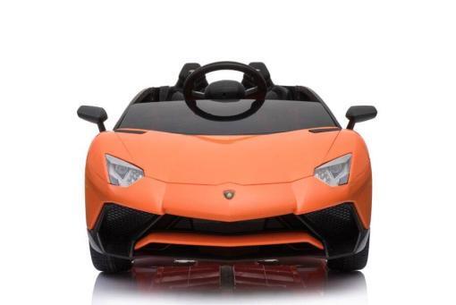 Kinderfahrzeug elektro von Lamborghini lizenziert - Aventador sv svj- mit Fernsteuerung, 12V, EVA und Ledersitz - orange- 4