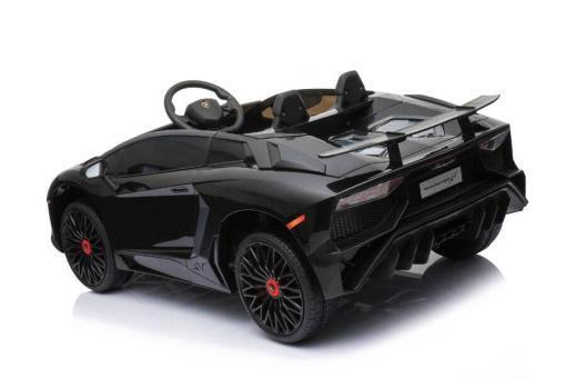 Kinderfahrzeug elektro von Lamborghini lizenziert - Aventador sv svj - mit Fernsteuerung, 12V, EVA und Ledersitz - schwarz- 2