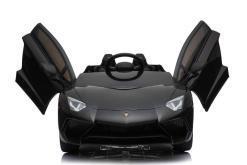 Kinderfahrzeug elektro von Lamborghini lizenziert - Aventador sv svj - mit Fernsteuerung, 12V, EVA und Ledersitz - schwarz- 4