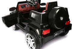 Elektro Kinderfahrzeug Kinderauto Jeep 12V Schwarz für Kinder ab 2 Jahre Groß-2