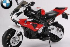 Elektro Kindermotorrad Bmw S1000RR lizenziert Rot Weiß ab 3 Jahre Groß 12V-1