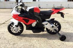 Elektro Kindermotorrad Bmw S1000RR lizenziert Rot Weiß ab 3 Jahre Groß 12V-10