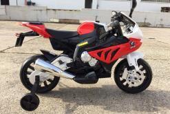 Elektro Kindermotorrad Bmw S1000RR lizenziert Rot Weiß ab 3 Jahre Groß 12V-11