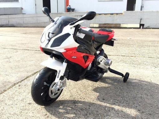 Elektro Kindermotorrad Bmw S1000RR lizenziert Rot Weiß ab 3 Jahre Groß 12V-3