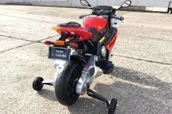 Elektro Kindermotorrad Bmw S1000RR lizenziert Rot Weiß ab 3 Jahre Groß 12V5