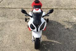 Elektro Kindermotorrad Bmw S1000RR lizenziert Rot Weiß ab 3 Jahre Groß 12V-6
