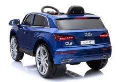 Elektro Kinderfahrzeug Kinderauto Audi Q5 Suv Jeep für Kinder ab 2 Jahre groß 12V Blau-3