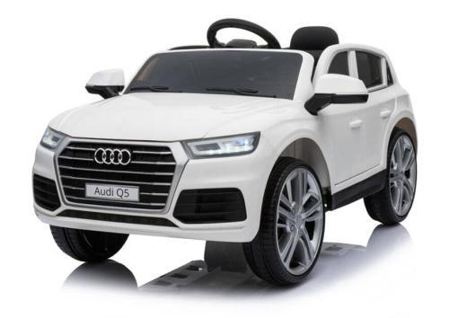 Elektro Kinderfahrzeug Kinderauto Audi Q5 Suv Jeep für Kinder ab 2 Jahre groß lizenziert 12V Weiß-2