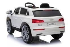 Elektro Kinderfahrzeug Kinderauto Audi Q5 Suv Jeep für Kinder ab 2 Jahre groß lizenziert 12V Weiß-3
