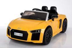 Elektro Kinderfahrzeug Kinderauto Audi R8 für Kinder ab 2 Jahren Sportwagen Gelb 12V-3