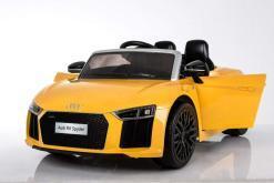 Elektro Kinderfahrzeug Kinderauto Audi R8 für Kinder ab 2 Jahren Sportwagen Gelb 12V-5