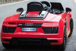 Elektro Kinderfahrzeug Kinderauto Audi R8 für Kinder ab 2 Jahren Sportwagen Rot 12V-3