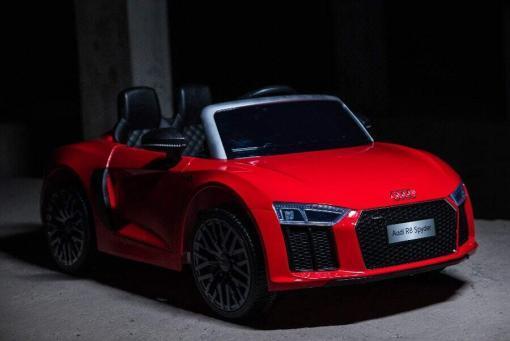 Elektro Kinderfahrzeug Kinderauto Audi R8 für Kinder ab 2 Jahren Sportwagen Rot 12V-4