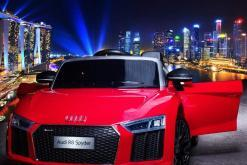 Elektro Kinderfahrzeug Kinderauto Audi R8 für Kinder ab 2 Jahren Sportwagen Rot 12V-1