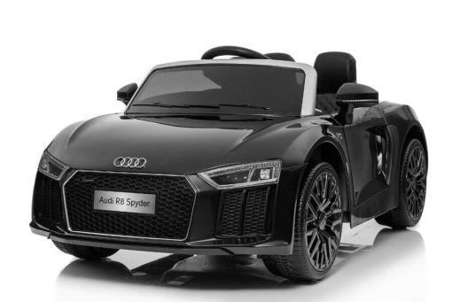 Elektro Kinderfahrzeug Kinderauto Audi R8 für Kinder ab 2 Jahren Sportwagen Schwarz 12V-1