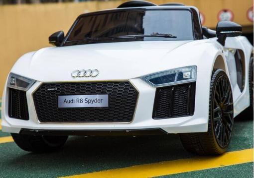 Elektro Kinderfahrzeug Kinderauto Audi R8 für Kinder ab 2 Jahren Sportwagen Weiß 12V-1