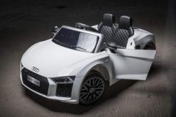 Elektro Kinderfahrzeug Kinderauto Audi R8 für Kinder ab 2 Jahren Sportwagen Weiß 12V-5