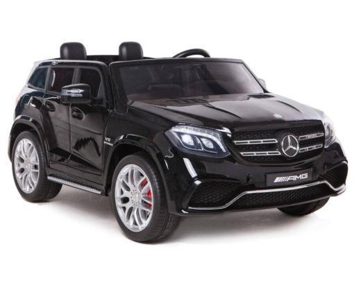 Elektro Kinderfahrzeug Kinderauto Mercedes GLS63 AMG für Kinder ab 2 Jahre Jeep SUV Schwarz Groß 12V-1