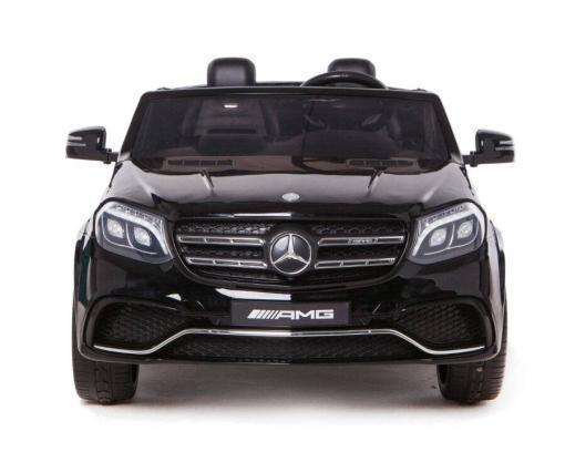 Elektro Kinderfahrzeug Kinderauto Mercedes GLS63 AMG für Kinder ab 2 Jahre Jeep SUV Schwarz Groß 12V-3