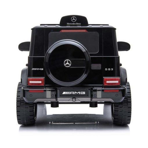 mercedes g63 amg elektro kinderfahrzeug ferngesteuert mit musik eva und leder - schwarz -3