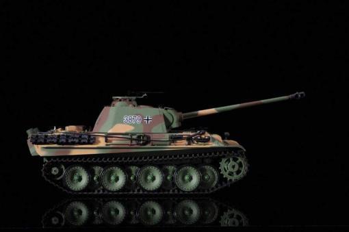Ferngesteuerter Panzer mit Schuss Panther G Heng Long 1-16 mit Rauch&Sound und Stahlgetriebe - 2,4Ghz -V 6.0 -8