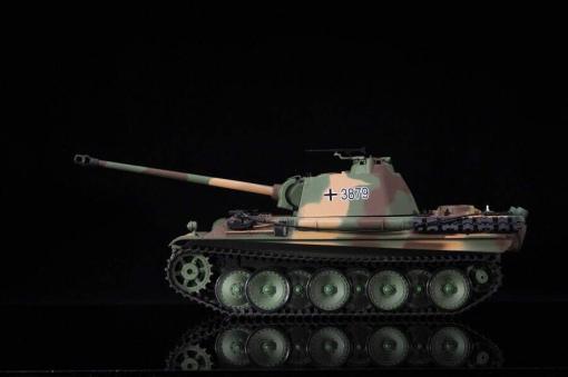 Ferngesteuerter Panzer mit Schuss Panther G Heng Long 1-16 mit Rauch&Sound und Stahlgetriebe - 2,4Ghz -V 6.0 -9