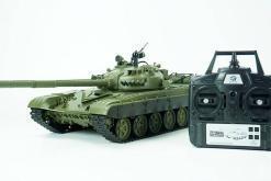 Ferngesteuerter Panzer mit Schuss Russicher T-72 Heng Long 116, Stahlgetriebe -2,4Ghz -V 6.0 -1