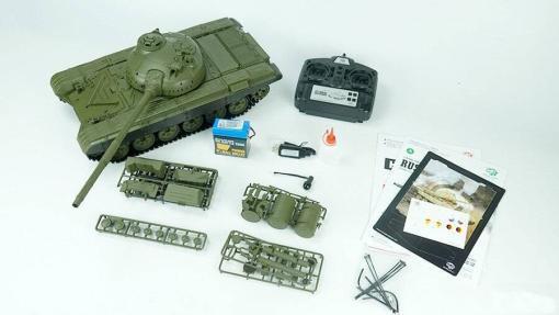 Ferngesteuerter Panzer mit Schuss Russicher T-72 Heng Long 116, Stahlgetriebe -2,4Ghz -V 6.0 -11