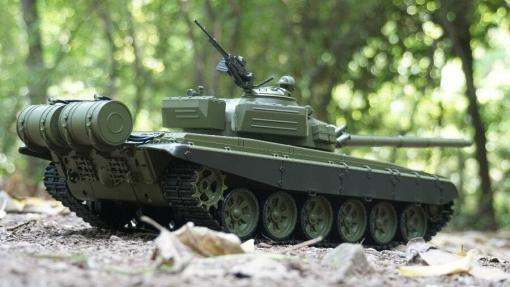 Ferngesteuerter Panzer mit Schuss Russicher T-72 Heng Long 116, Stahlgetriebe -2,4Ghz -V 6.0 -3