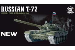 Ferngesteuerter Panzer mit Schuss Russicher T-72 Heng Long 116 , Stahlgetriebe -2,4Ghz V 6.0 -PRO 1