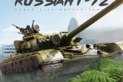 Ferngesteuerter Panzer mit Schuss Russicher T-72 Heng Long 116 , Stahlgetriebe -2,4Ghz V 6.0 -PRO 2