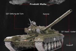 Ferngesteuerter Panzer mit Schuss Russicher T-72 Heng Long 116 , Stahlgetriebe -2,4Ghz V 6.0 -PRO 3