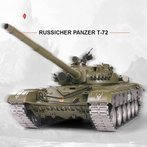 Ferngesteuerter Panzer mit Schuss Russicher T-72 Heng Long 116 , Stahlgetriebe -2,4Ghz V 6.0 -PRO 7