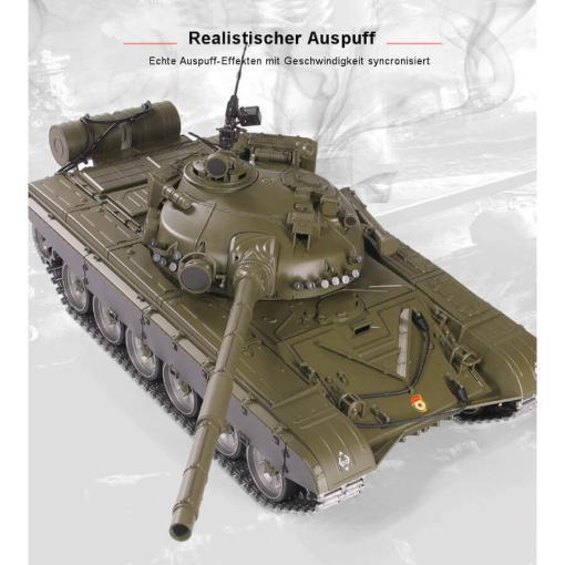 Ferngesteuerter Panzer mit Schuss Russicher T-72 Heng Long 116 , Stahlgetriebe -2,4Ghz V 6.0 -PRO 8