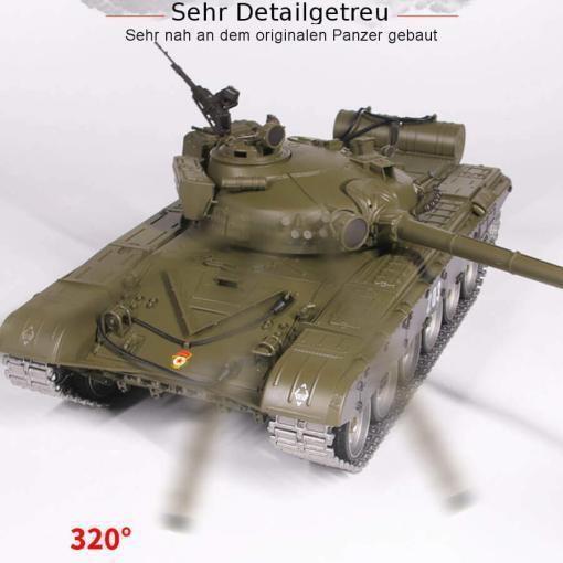 Ferngesteuerter Panzer mit Schuss Russicher T-72 Heng Long 116 , Stahlgetriebe -2,4Ghz V 6.0 -PRO 9