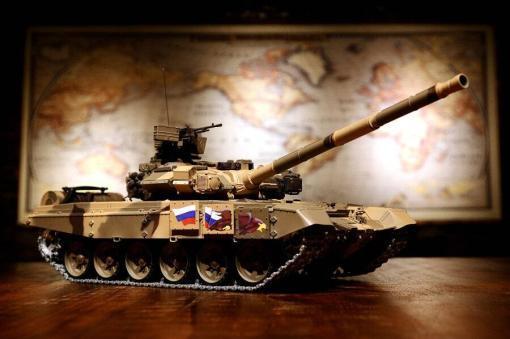 Ferngesteuerter Panzer mit Schuss Russland T90 Heng Long 1-16 mit Rauch&Sound + 2,4Ghz V6.0 -PRO 1