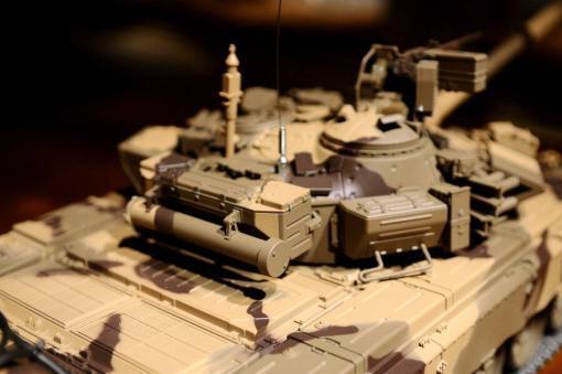 Ferngesteuerter Panzer mit Schuss Russland T90 Heng Long 1-16 mit Rauch&Sound + 2,4Ghz V6.0 -PRO 12