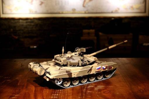 Ferngesteuerter Panzer mit Schuss Russland T90 Heng Long 1-16 mit Rauch&Sound + 2,4Ghz V6.0 -PRO 3