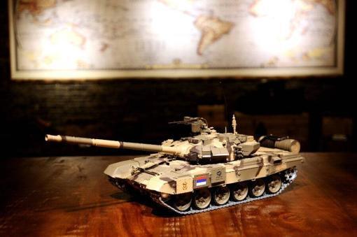 Ferngesteuerter Panzer mit Schuss Russland T90 Heng Long 1-16 mit Rauch&Sound + 2,4Ghz V6.0 -PRO 4