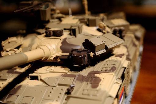 Ferngesteuerter Panzer mit Schuss Russland T90 Heng Long 1-16 mit Rauch&Sound + 2,4Ghz V6.0 -PRO 6