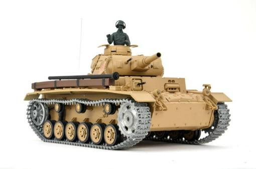 Ferngesteuerter Panzer mit Schuss Tauchpanzer III 116 Heng Long - 2,4Ghz -PRO 10