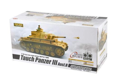 Ferngesteuerter Panzer mit Schuss Tauchpanzer III 116 Heng Long - 2,4Ghz -PRO 12