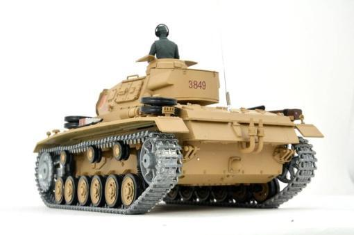 Ferngesteuerter Panzer mit Schuss Tauchpanzer III 116 Heng Long - 2,4Ghz -PRO 3