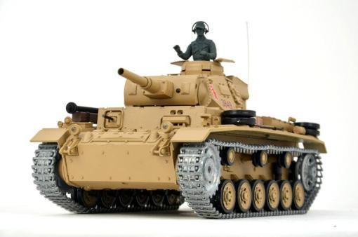 Ferngesteuerter Panzer mit Schuss Tauchpanzer III 116 Heng Long - 2,4Ghz -PRO 4